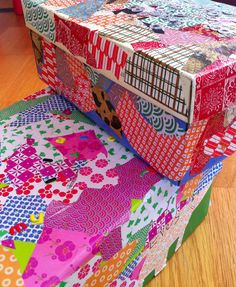 decorated shoe boxes. Lots of ways to actually decorate them