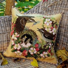 Our #needlepoint kit of the month is the Apple Blossom from the Forget-Me-Nots Collection