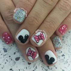 Love, Life, and Blessings Funky Nail Art, Funky Nails, Love Nails, My Nails, Crazy Nails, Fabulous Nails, Gorgeous Nails, Pretty Nails, Disneyland Nails