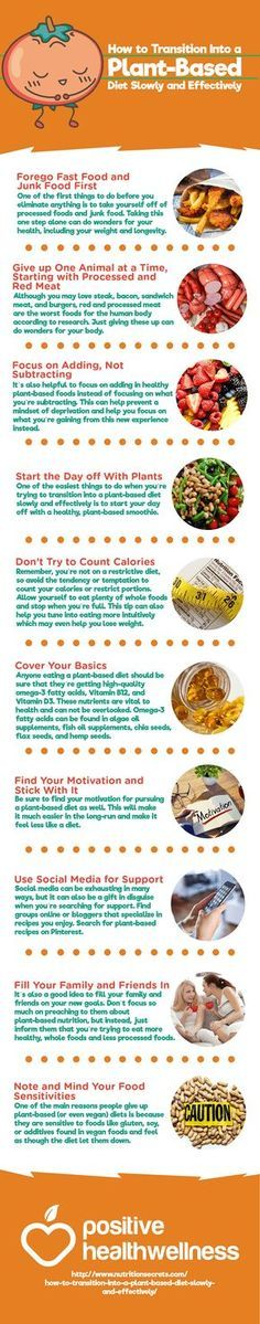 How to Transition Into a Plant-Based Diet Slowly and Effectively – Positive Health Wellness Infographic
