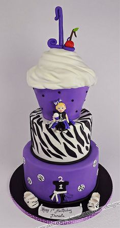 First birthday cupcake shaped cake | Flickr - Photo Sharing!