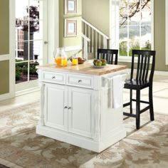[ Buy Crosley Butcher Block Top Kitchen Island White Finish Crosley  Furniture Butcher Block Top Kitchen Island Black ]   Best Free Home Design  Idea U0026 ...