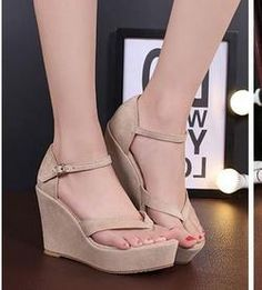 9fb3b9911219 Comfortable Wedge Platform Sandals Cute Wedges Shoes
