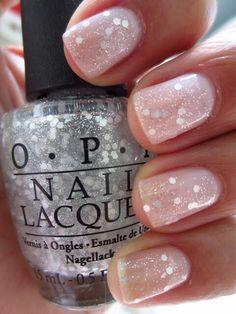 natural & glitter #summer #nails