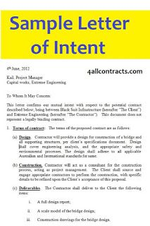 Letter Of Intent Sample Template Download This Sample Letter Of