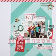 Greatest Present Ever - Scrapbook.com - Made with Elle's Studio Good Cheer collection.