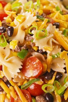35 Pasta Salads That Will Crush At Your Next Cookout Cowboy Pasta Salad Best Pasta Salad, Easy Pasta Salad Recipe, Salad Recipes Video, Summer Salad Recipes, Summer Salads, Pasta Salad Italian, Easy Pasta Recipes, Pizza Recipes, Cooking Recipes