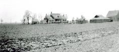 1920 view of the house, Marine Park still farmland. Photo:Mistergworld.com