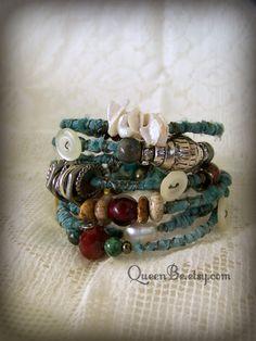 Boho Gypsy Bangle Bracelet Stack Wire Wrapped Bracelets Vintage ...