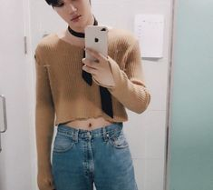 Chanyeol, Kai Exo, Kim Jongin, Lucky Ladies, Denim Skirt, Mom Jeans, Wattpad, Kpop, Crop Tops