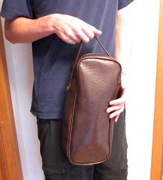 Vintage Vinyl Bag, Skinny Retro Luggage Tote