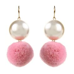 Pearl Pom Pom Earrings