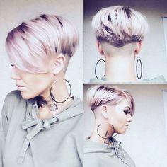 Kunst oder Kitsch …, 10 raffinierte und vor allem farbenfrohe Kurzhaarfrisuren! - Neue Frisur