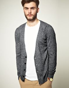 cardigan in black & white twist / asos