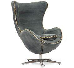 Blue Denim Armchair