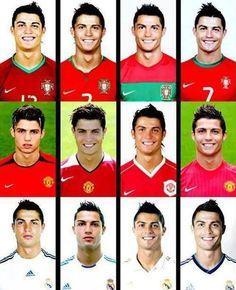 Cristiano Ronaldo's Hairstyle evolution.