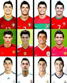 Cristiano Ronaldo's Hairstyle evolution.