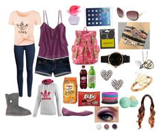 """""""Random set"""" by amanda-o-twomey ❤ liked on Polyvore featuring H&M, Hollister Co., adidas, American Eagle Outfitters, Nine West, Justin Bieber, Red Herring, UGG Australia, Forever 21 and Steve Madden"""