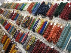Beads Galore Trade Bead Wall #tradebeads