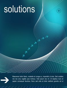 Intelligent solutions cover page design - Free Title Page Template by Hloom.com