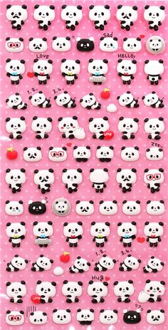 cute little panda bear sponge stickers from  Japan 2