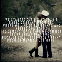 Quote vows pinky promise usmc marine wedding wife groom love