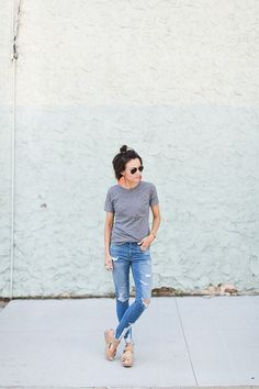 Looking chic in basics. Back to Basics with ONE little MOMMA