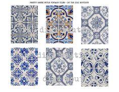 Pretty Greek vintage mosaic tiles Greek Garden, Garden Tiles, Greek Pattern, Greek Restaurants, Greek Design, Bathroom Trends, Bathroom Ideas, Outdoor Tiles, Greek Culture