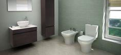 Línea Veneto. Inodoro, bidet y depósito de apoyar. Toilet, Bathroom, Washroom, Litter Box, Bathrooms, Flush Toilet, Powder Room, Powder Rooms, Bath