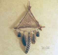 Reserved for Olivia Woodland Dream Catcher por FrolicInTheForest