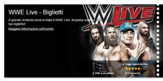 WWE Live – Nov. 11 in Rome; Nov. 12, 2015,  in Casalecchio di Reno; tickets are available in Vicenza at Media World, Palladio Shopping Center, or online at http://www.greenticket.it/index.html?imposta_lingua=ing; http://www.ticketone.it/EN/ or http://www.zedlive.com.