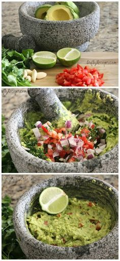 BEST authentic guacamole recipe to make with tortilla chips! Great dip appetizer… BEST authentic guacamole recipe to make with tortilla chips! Great dip appetizer…so fresh Mexican Dishes, Mexican Food Recipes, Vegetarian Recipes, Cooking Recipes, Healthy Recipes, Cooking Fish, Potato Recipes, Vegetable Recipes, Salads
