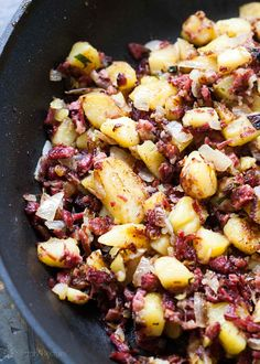 """<p>I often make hash with leftover short ribs or brisket. Swap in corned beef while you have it in the fridge, but keep this recipe front and center year-round to put leftovers to delicious use.</p> <p>Get the recipe <a href=""""http://www.simplyrecipes.com/recipes/corned_beef_hash/"""">here</a>.</p>"""