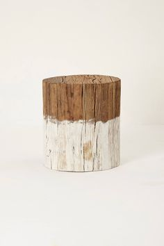 Slide View: 1: Reclaimed Wood Side Table