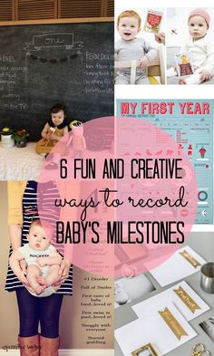 6 Creative Ways to Record Your Babys First-Year Milestones