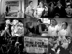 100 Favorite Movies Sullivan's Travels (1941) - written and directed by Preston Sturges. Starring Joel McRea, Veronica Lake and Robert Warwick.  There's a lot to be said for making people laugh. Did you know that that's all some people have? It isn't much, but it's better than nothing in this cockeyed caravan.