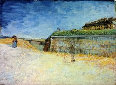 Van Gogh's The Fortifications of Paris with Houses (The Ramparts of Paris) was stolen from The Whitworth Art Gallery at The University of Manchester in London on April The painting was found a few days later outside of a public restroom near the gallery. Vincent Van Gogh, Scenery Paintings, Van Gogh Paintings, The Plan, Paul Gauguin, Van Gogh Aquarell, Van Gogh Arte, Van Gogh Watercolor, Watercolor Painting