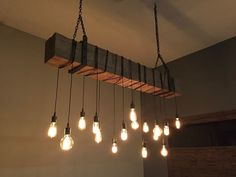 "72"" Rustic Beam Light Fixture Farmhouse Lighting, Rustic Lighting, Industrial Lighting, Chandelier Lighting, Rustic Farmhouse, Lighting Ideas, Farmhouse Lamps, Industrial Chandelier, Rustic Industrial"