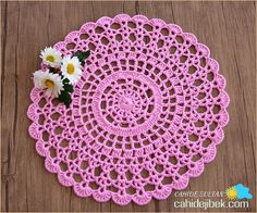 dantel supla yapımı - Google'da Ara Crochet Mat, Thread Crochet, Crochet Placemats, Crochet Doilies, Doily Patterns, Easy Crochet Patterns, Arte Quilling, Crochet Circles, Applique Templates