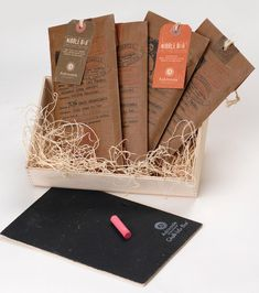 I love the brown paper look // Creative Product Designs