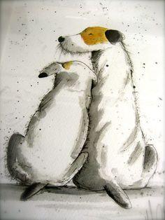 Dog art illustration. http://michellecampbellart.com