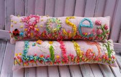 Nursery Decor Easter Basket Idea Freehand Embroidered Bohemian Letters Custom Name Pillow Up To FIVE Letters by YelliKelli on Etsy https://www.etsy.com/listing/500352840/nursery-decor-easter-basket-idea