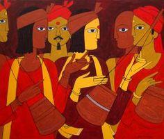 Folk Singer Painting By Jiaur Rahman