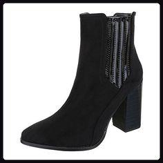 e2f1f724fb4ee4 Ital-Design Klassische Stiefeletten Damen Schuhe Schlupfstiefel Pump  Moderne Sti... -