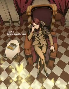 Tags: Anime, Curtain, Throne, Chess, Ring, Umineko no Naku Koro ni, Ushiromiya Battler #ContesDefaits #Friedrich