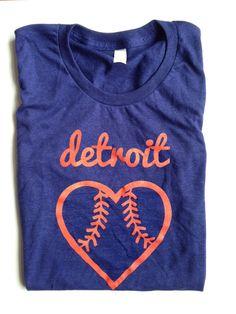 Detroit baseball tshirt