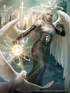All Kinds of Fantasy. Fantasy Women, Fantasy Girl, Dark Fantasy, Fantasy Art Angels, Fantasy Artwork, Fantasy Creatures, Mythical Creatures, Character Inspiration, Character Art