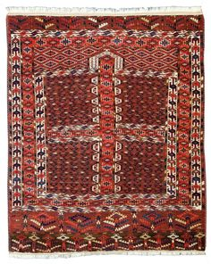 Yomud engsi, Approximately 5ft. 4in. x 4ft. 5in. (163x135cm) Turkmenistan circa 1880