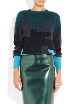 3.1 Phillip Lim | Brindle patchwork knitted sweater | NET-A-PORTER.COM