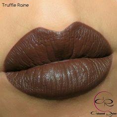 Coloured Raine Cosmetics @colouredraine Truffle Raine Matte Lip Paint by #ColouredRaine available around Christmas. Lip swatch by @theamazingworldofj